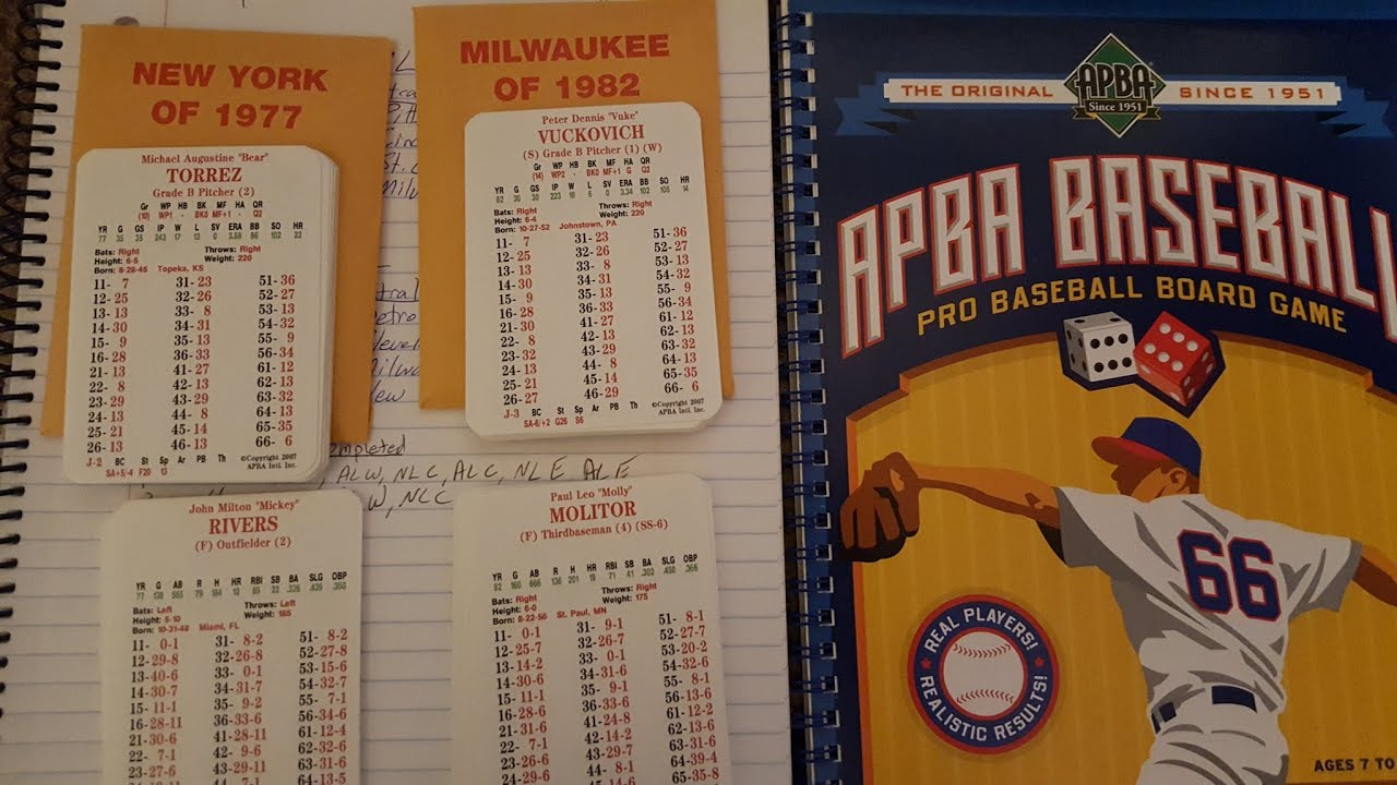 Tabletop Game Of The Week Improved View Apba Baseball