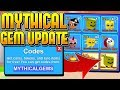 15 MYTHICAL ROBLOX MINING SIMULATOR GEMS UPDATE CODES!