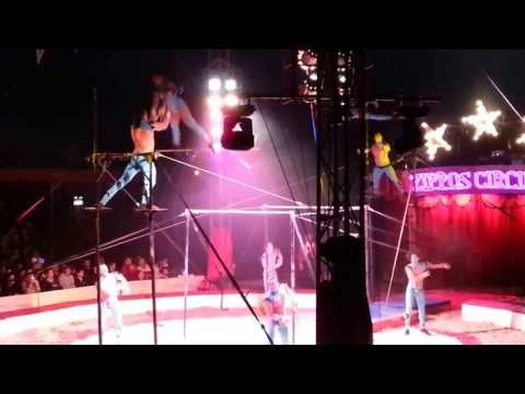 Zippos Circus 18/04/13 - The Havana Troupe - Aerial Casting 2