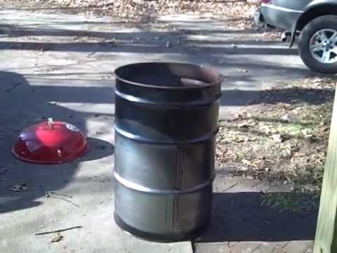 how to build a ugly drum smoker cheap part 1 bbq smoker youtube. Black Bedroom Furniture Sets. Home Design Ideas