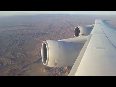 Iran Air B747-200 EP-IAI Takeoff from Tehran IKA, 5th Feb 2016 - Window View