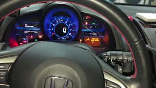 Honda CR-Z Service Light Reset, Failed first then did it right. (Oil Light Reset)