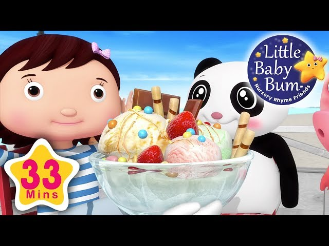 Ice cream | Part 3 | Plus Lots More Nursery Rhymes | 33 Minutes Compilation from LittleBabyBum!