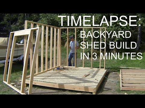 Complete Backyard Shed Build In 3 Minutes - iCreatables Shed Plans
