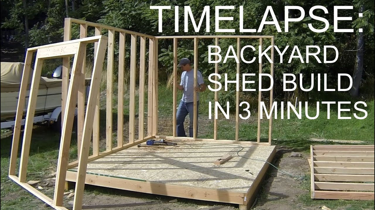 Complete backyard shed build in 3 minutes icreatables for Shed construction
