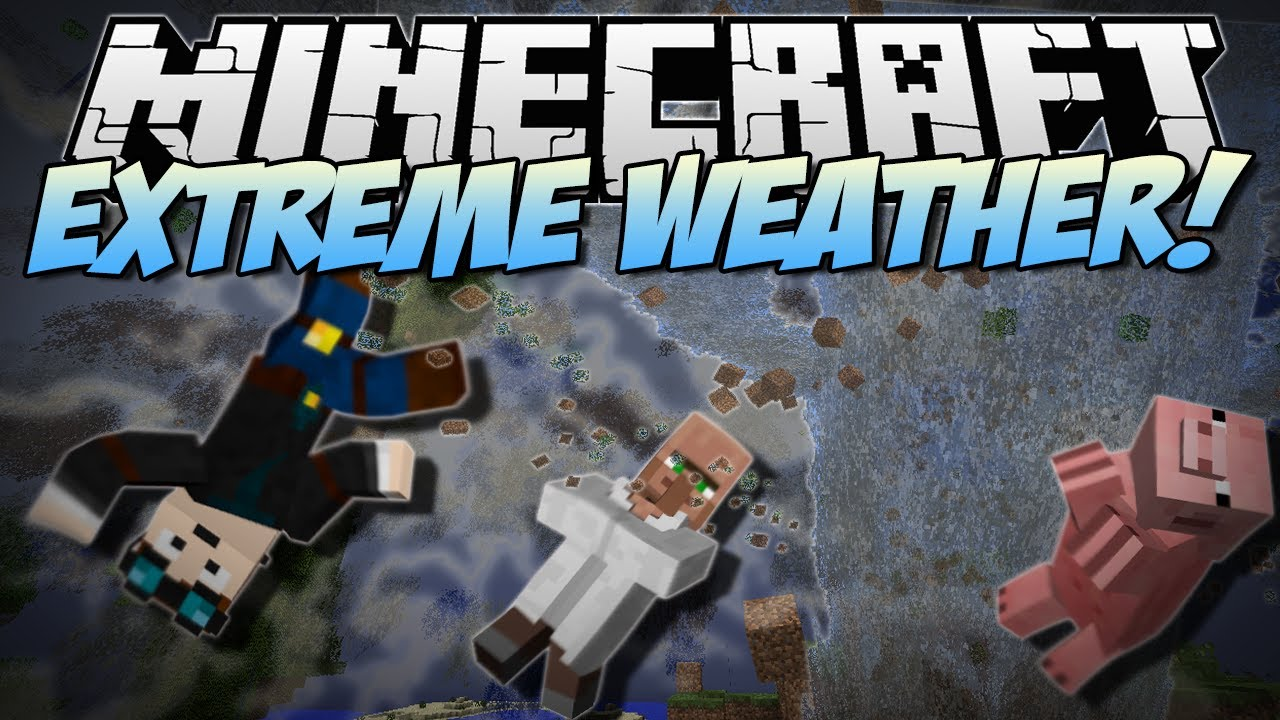 Minecraft EXTREME WEATHER Tornadoes Giant Waves