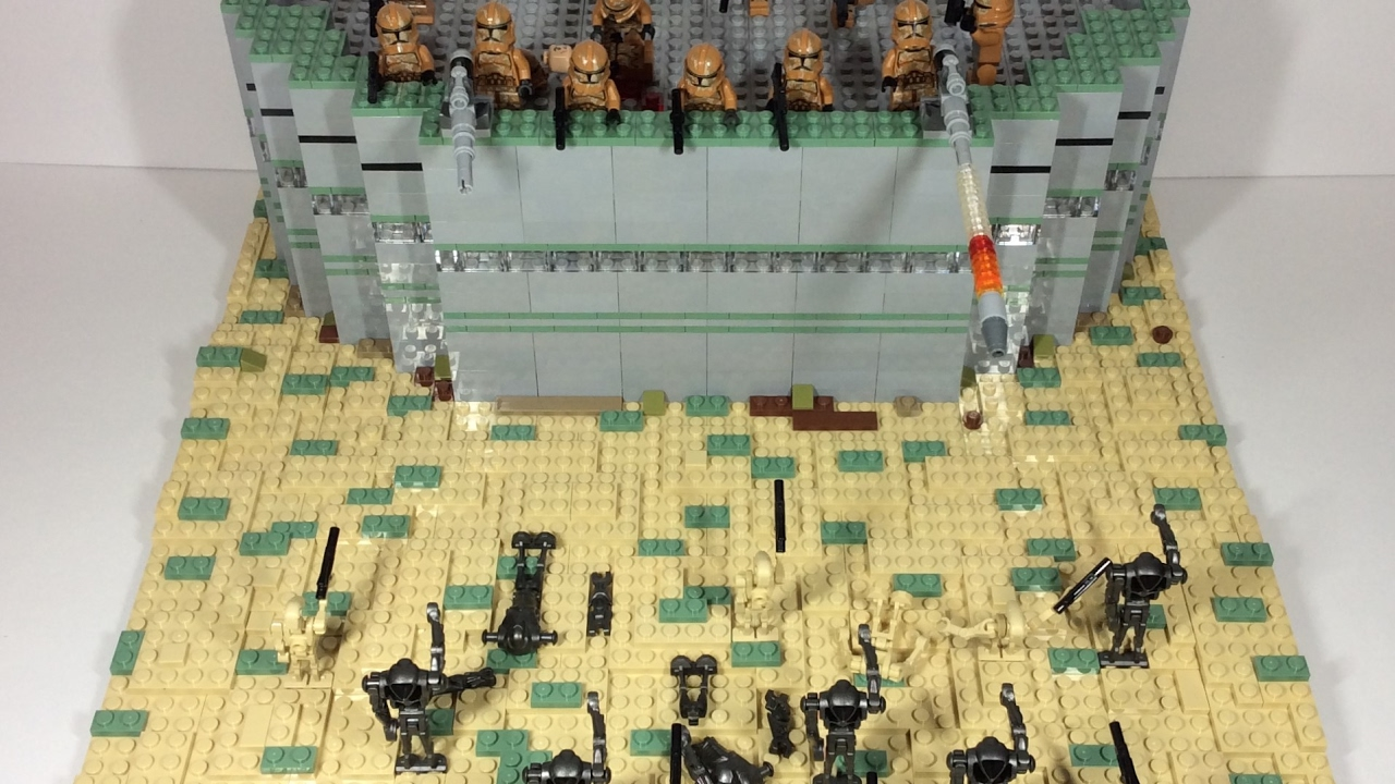 Lego Star Wars Clone Base Attack Moc With Speedbuild Youtube