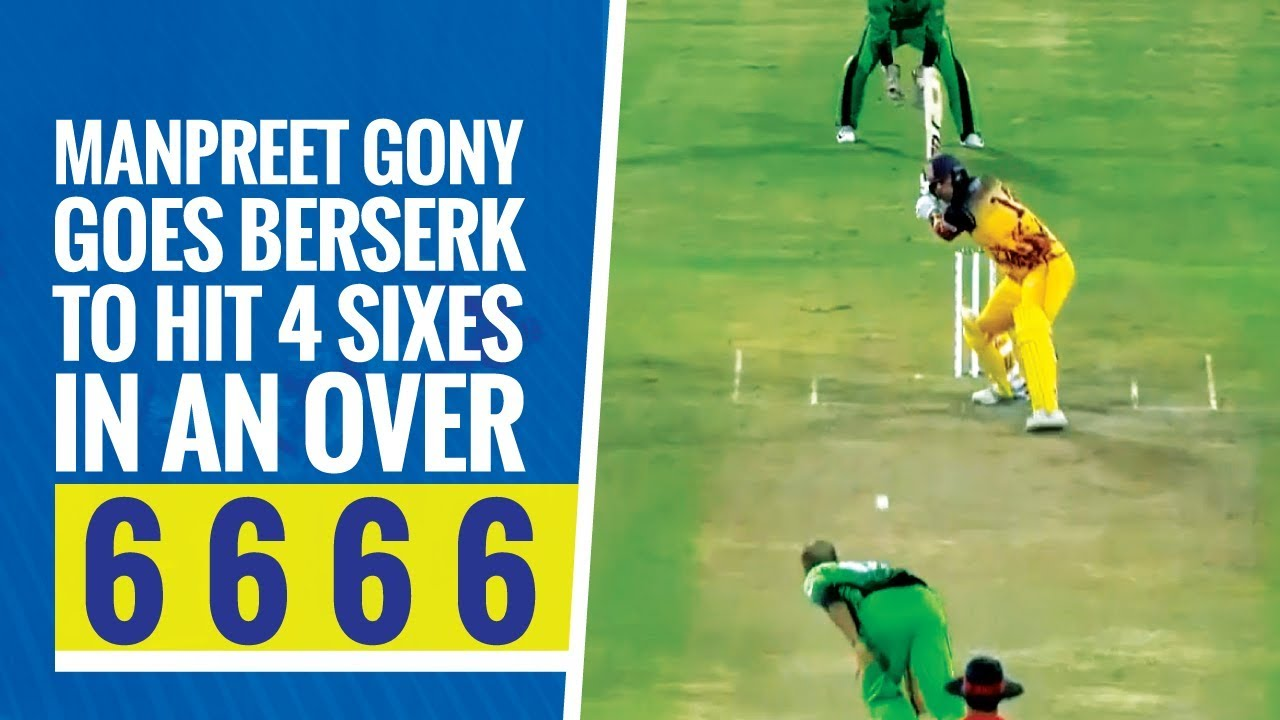 Download Qatar T10 League 2019: 4,1,6,6,6,6 Manpreet Gony and Rishu Chopra smash 34 runs in a single over