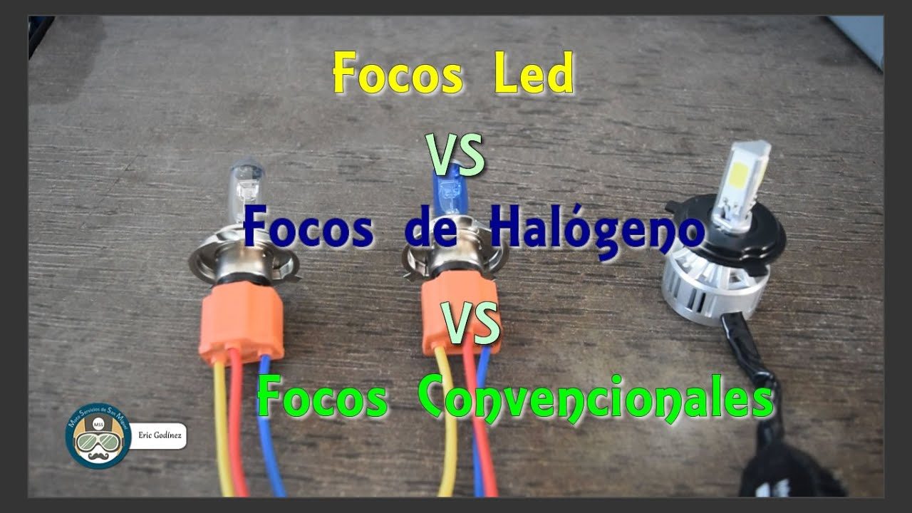 Comparativo entre focos led focos de hal geno y focos convencionales para motocicletas youtube - Focos led con luces de colores ...