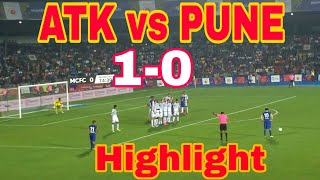 Atk vs pune today match atk vs pune city fc kolkata vs pune match highlight isl2018
