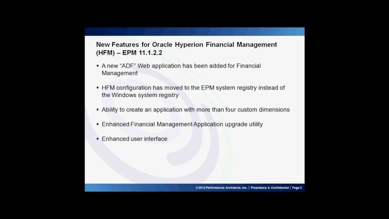 New Features of EPM 11 1 2 2 - Oracle Hyperion Financial Management and  Project Financial Planning