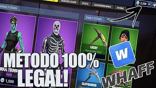 ¡COMO GANAR V BUCKS EN FORTNITE GRATIS! -METHOD 100% LEGAL! -2018