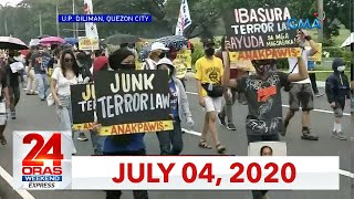 24 Oras Weekend Express: July 4, 2020 [HD]