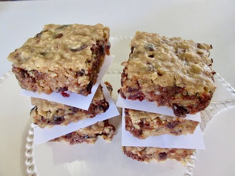 CHOCOLATE CRANBERRY OAT BARS | Chewy SNACK | DIY Demonstration
