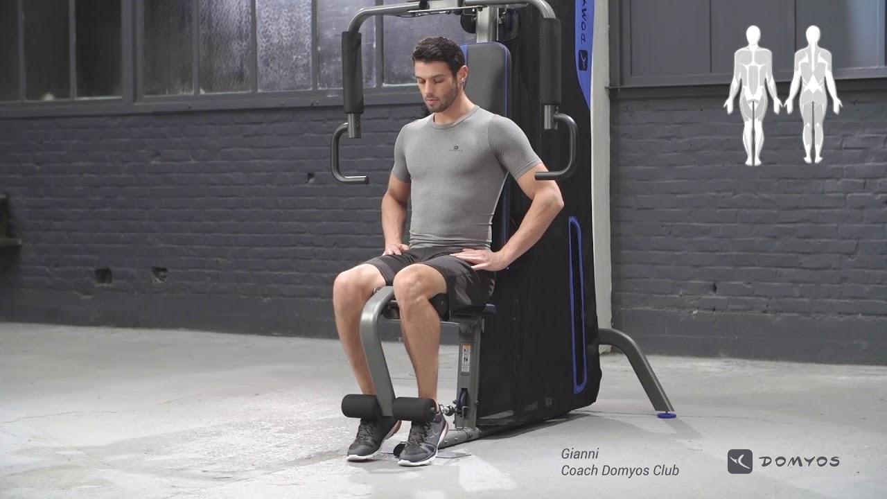 Exercice leg extension home gym compact domyos youtube