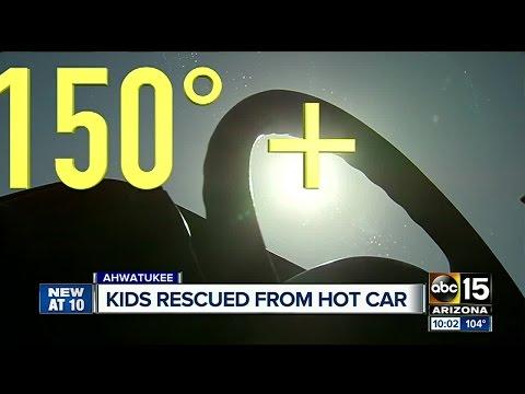 Kids rescued from hot car, Good Samaritans help