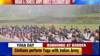 Indian and Chinese Army jointly celebrate 5th International Yoga Day