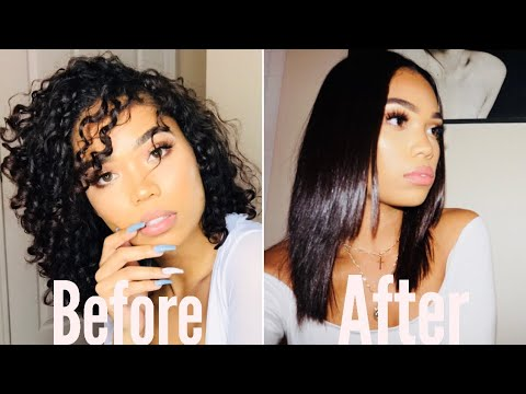 How To Go From Curly To Straight Hair - Tutorial | Briana Monique'