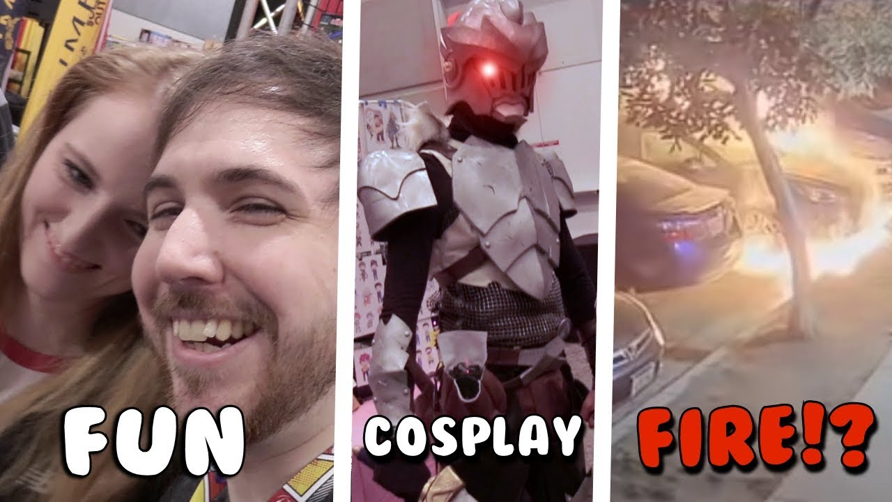 Fun, Cosplay, and CARS SET ON FIRE!? - Anime Los Angeles Vlog
