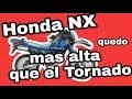 Como levantar mí moto sin cambiar el amortiguador - Honda NX 150