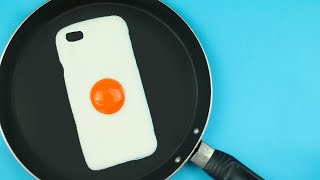 Diy | Fried Egg Phone Case Tutorial - Cover Uovo Fritto