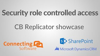 Dynamics CRM documents in SharePoint showcase - Security role controlled access