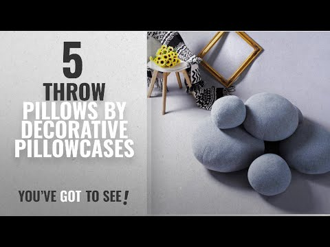 Top 10 Decorative Pillowcases Throw Pillows [2018]: Cobblestone Lazy Sofa Pillow Creative Modeling