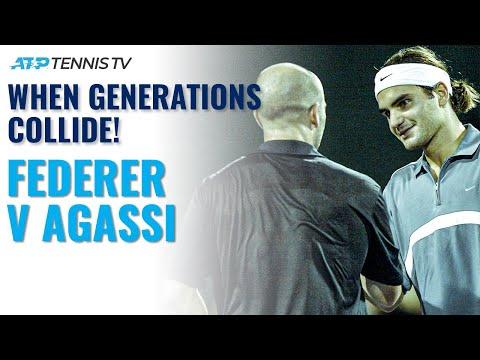 Roger Federer vs Andre Agassi Highlights! | ATP Finals 2003 Round Robin