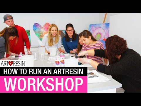 How To Run An ArtResin Workshop