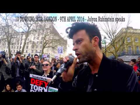 #ResignCameron - BBC Personality protests at 10 Downing Street. 9 April 2016 #ResignDavidCameron