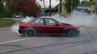 BMW E36 325 Turbo Tireslayer TEAM ARG(Team ARG(Awesome Race Geeks) 325Turbo Rubbin tires on the Swedish streets., 2013-11-01T22:18:30.000Z)