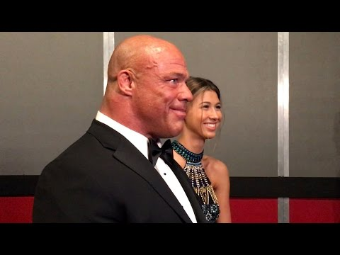 Thumbnail: Kurt Angle gets choked up while watching his WWE Hall of Fame highlights