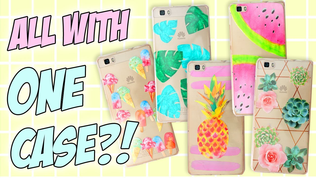wholesale dealer 230f9 9d290 7+1 DIY PHONE CASE ideas Using JUST ONE Case! Easy & Cheap! Perfect For  SUMMER!