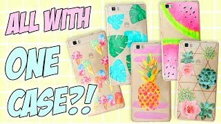 7+1 DIY PHONE CASE ideas Using JUST ONE Case! Easy & Cheap! Perfect For SUMMER!