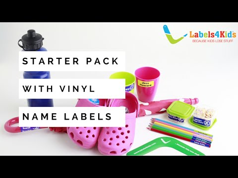 Starter Vinyl Pack - Name Labels By Labels4Kids