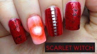 Scarlet Witch Nails |#MARVELMANIMONTH