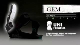 Flow Gem Womens Snowboard Bindings 2013