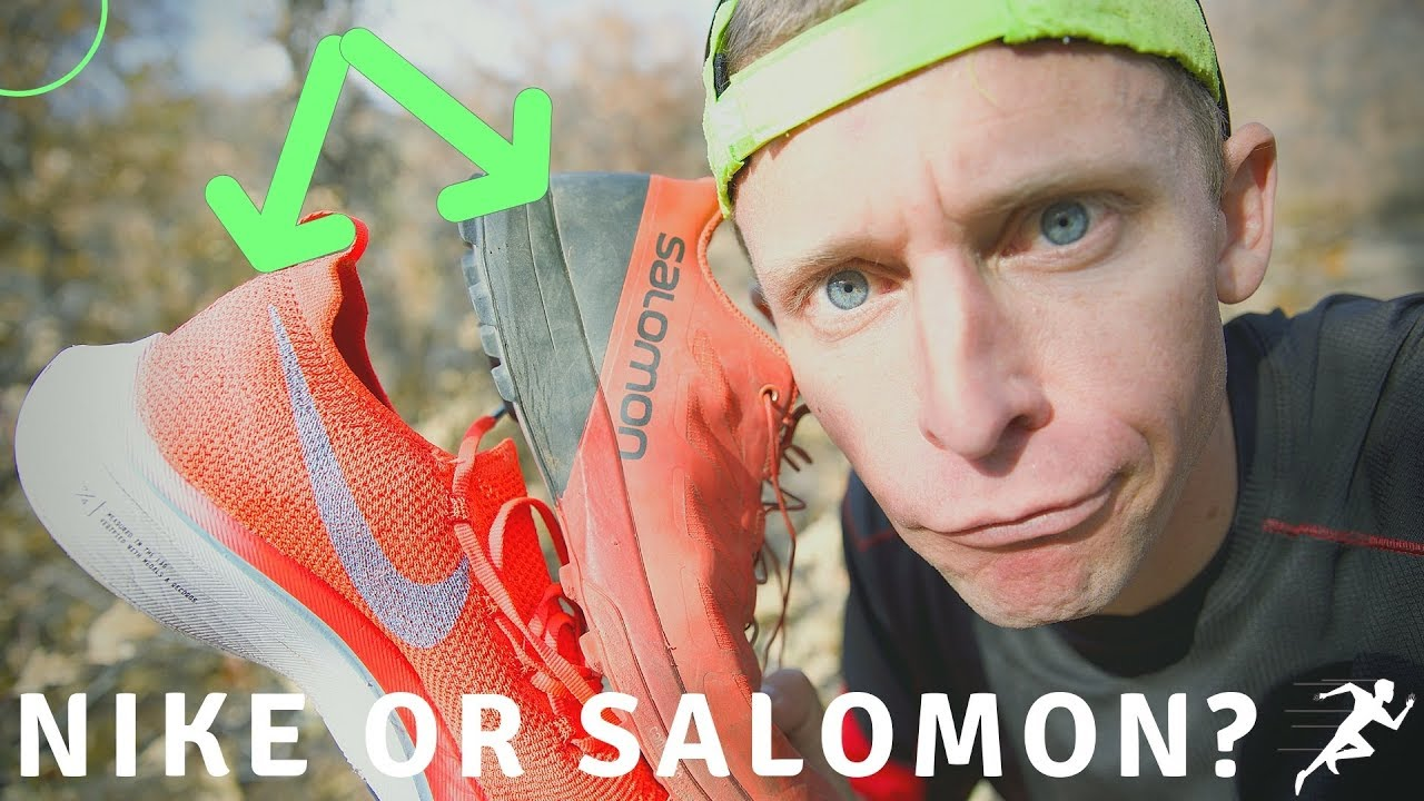 huge selection of d09a5 e0105 Nike Vaporfly 4% Flyknit VS Salomon S-Lab Sense 6 SG for a TRAIL Half  Marathon Running Race