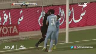 """بالفيديو.. حمودي يُحرز هدف التعادل لـ""""الباطن"""" في مرمى القادسية"""