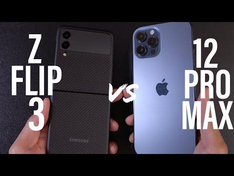 Samsung Galaxy Z Flip 3 vs iPhone 12 Pro Max SPEED TEST!