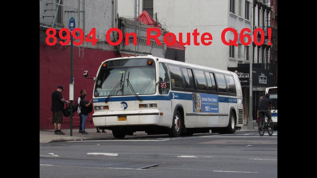Neoplandude Mta Bus Company 1996 Nova Rts 8994 On Route Q60 To