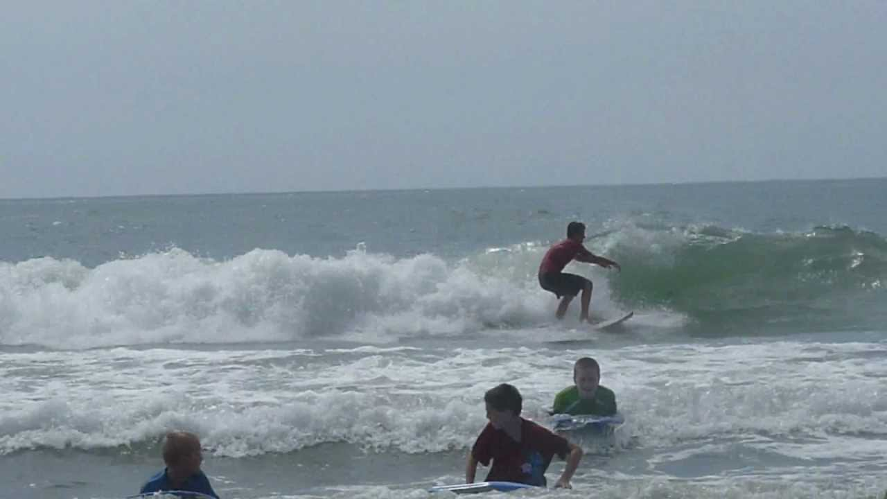 Surfing Myrtle Beach Outer Banks Summer 2017