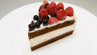 Шоколадный торт с йогуртовым кремом. Невероятно вкусный и простой рецепт