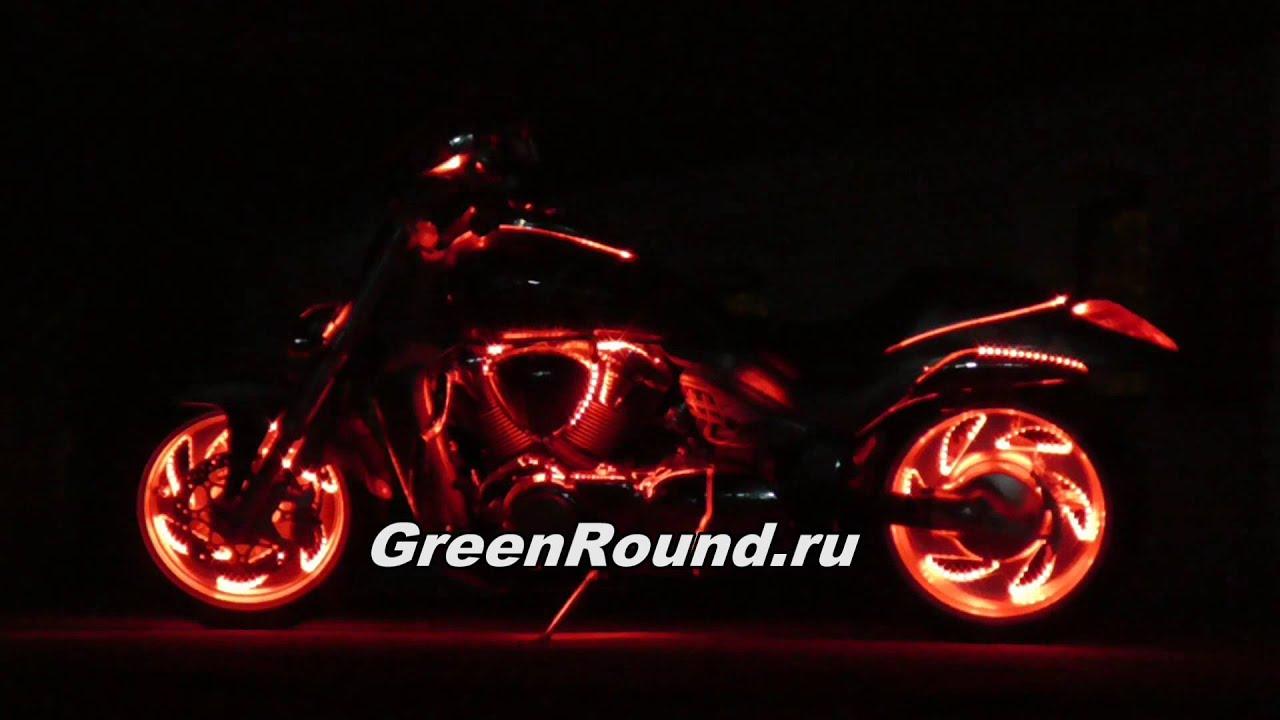 Подсветка колес мотоцикла 16