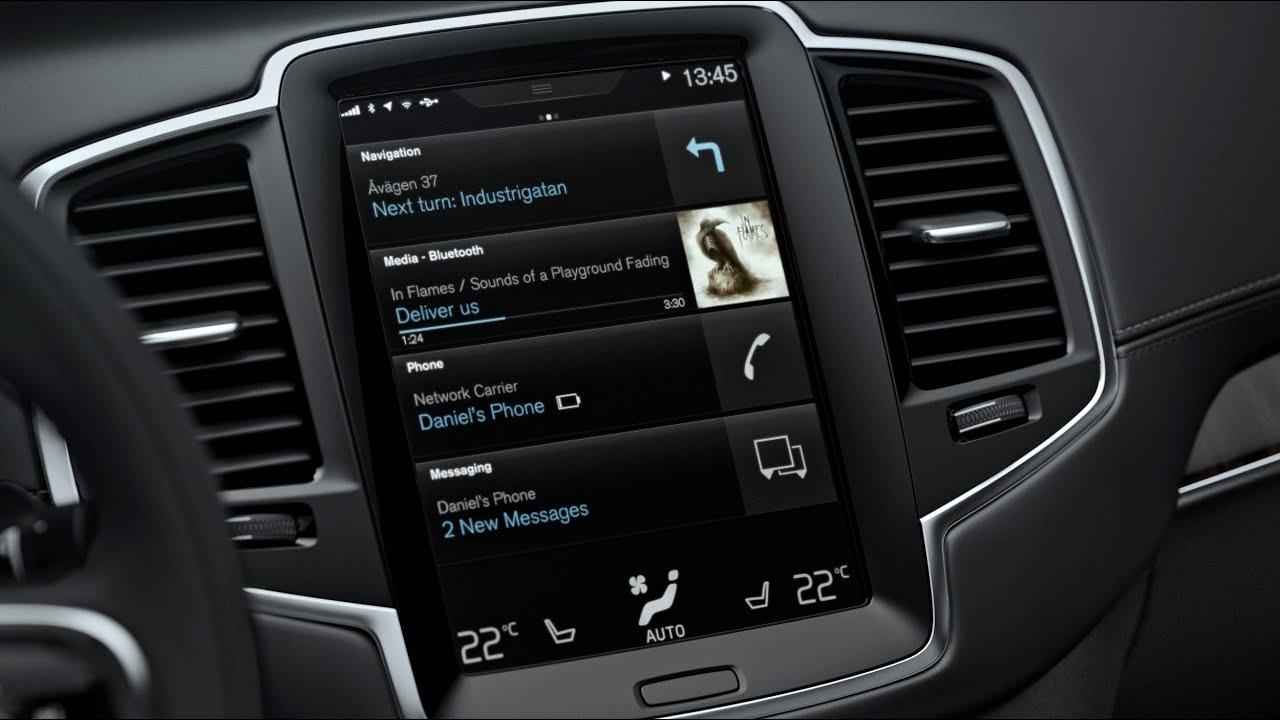 2016 Volvo XC90 Sensus Touchscreen Infotainment Review - YouTube