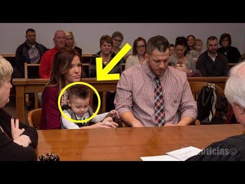 Estaban emocionados de adoptar a un hijo. Luego, en la corte, el niño dijo una palabra que los marcó