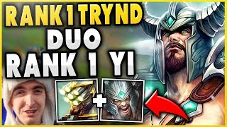 #1 TRYND WORLD + RANK 1 MASTER YI DUO! FT. COWSEP (VS. SMURF TOP) - League of Legends