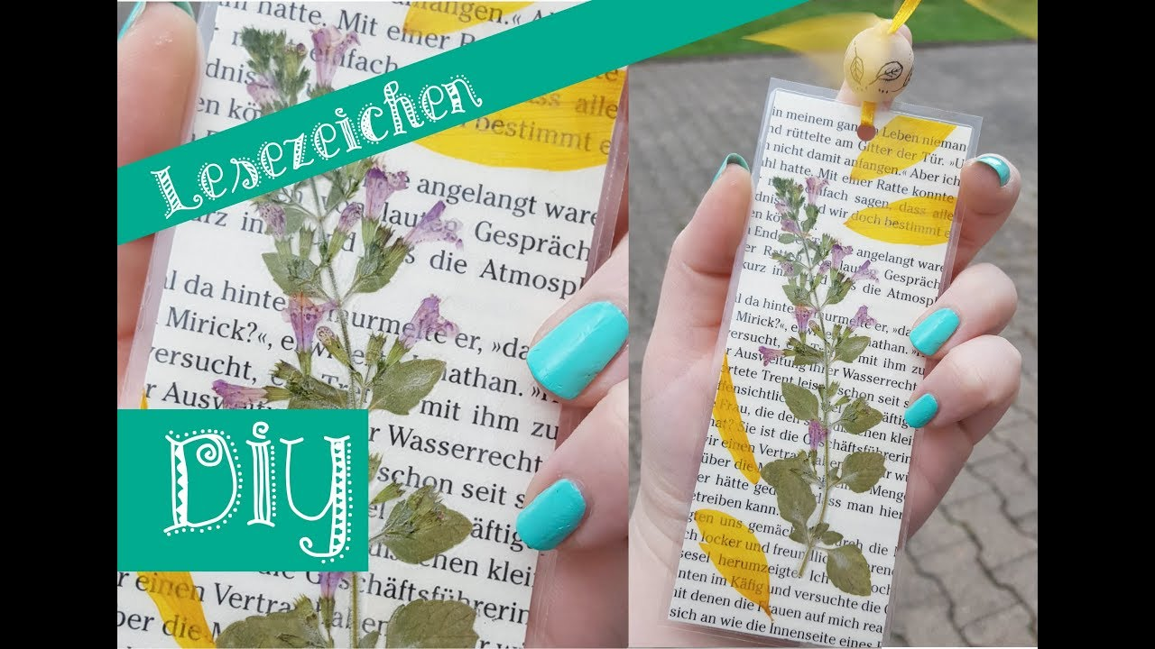 Diy Lesezeichen Mit Gepressten Blumen Youtube