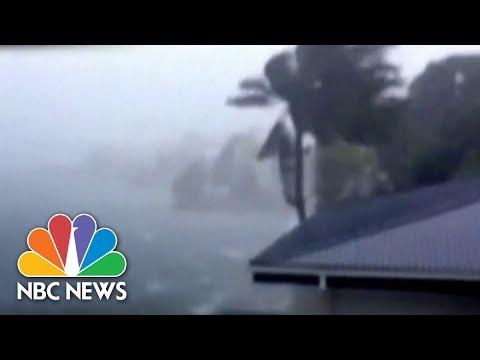 Powerful Typhoon Slams Island Resort | Archives | NBC News