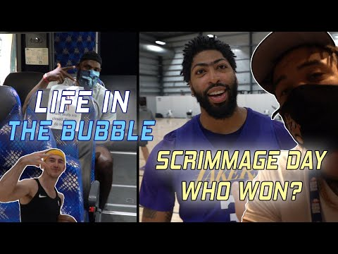 Life in the Bubble  Full Team Scrimmage! Who Won?!  | JaVale McGee Vlogs